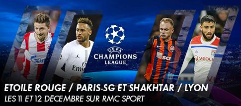 Ligue des Champions de l'UEFA - ÉTOILE ROUGE BELGRADE / PARIS-SG  et SHAKHTAR / LYON